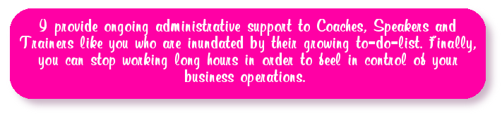virtual assistant support to coaches, speakers and trainers