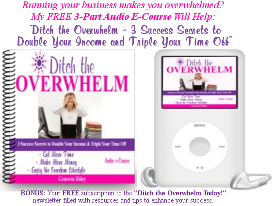 ditch the entrepreneurial overwhelm